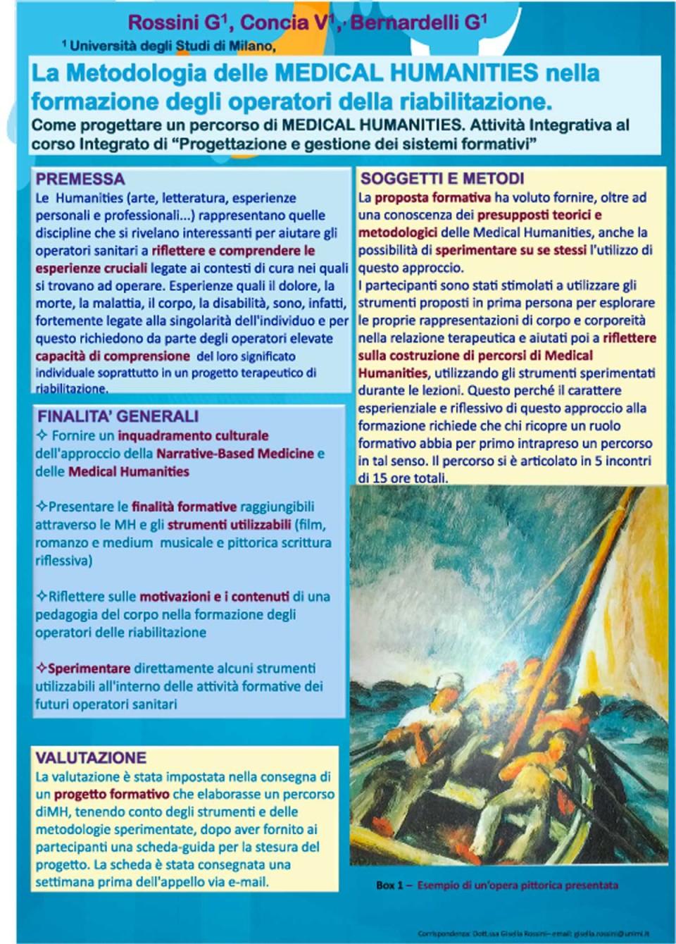 La metodologia delle Medical Humanities nella formazione degli operatori della riabilitazione